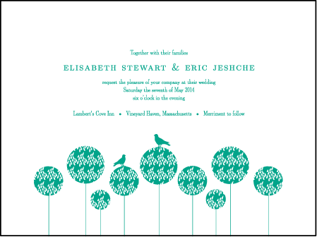Modern Garden Letterpress Invitation Design Medium
