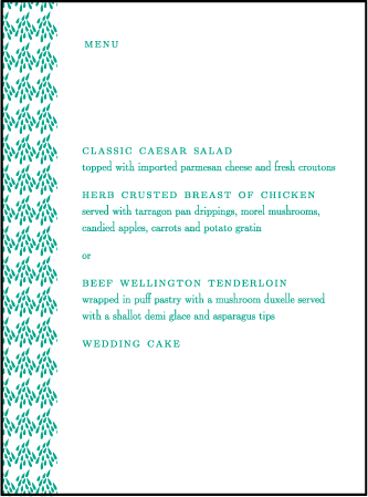 Modern Garden Letterpress Menu Design Medium