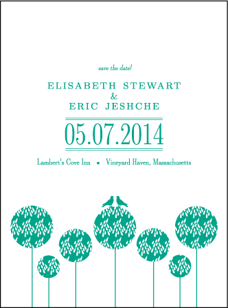 Modern Garden Letterpress Save The Date Design Medium