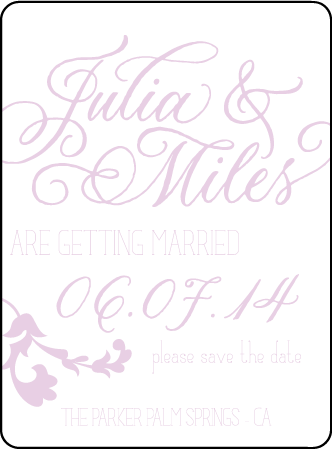 Modern Gardiner Letterpress Save The Date Design Medium