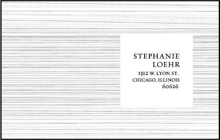 Modern Light Letterpress Reply Postcard Front Design Medium