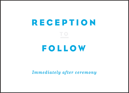 Modern Literate Letterpress Reception Design Medium