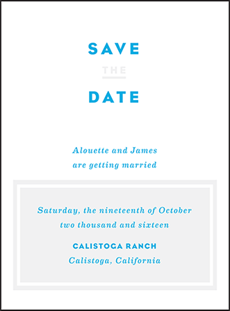 Modern Literate Letterpress Save The Date Design Medium