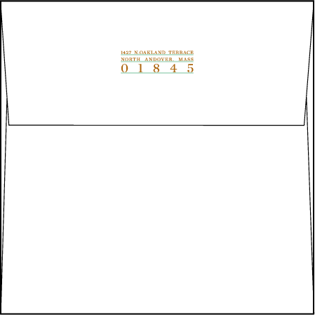 Modern Surf Letterpress Envelope Design Medium