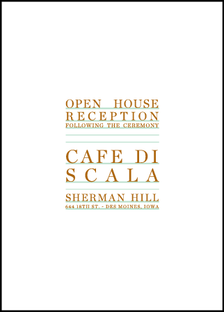 Modern Surf Letterpress Reception Design Medium
