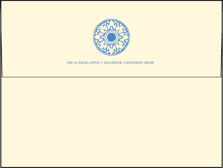 Modern World Letterpress Envelope Design Medium