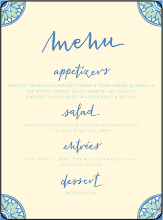 Modern World Letterpress Menu Design Medium