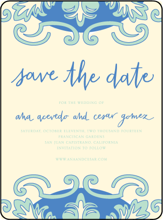 Modern World Letterpress Save The Date Design Medium