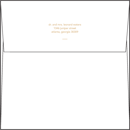 Moderno 1 Letterpress Envelope Design Medium