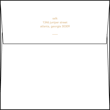 Moderno 1 Letterpress Thank You Card Flat Envelope Design Medium