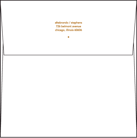 Moderno 2 Letterpress Envelope Design Medium