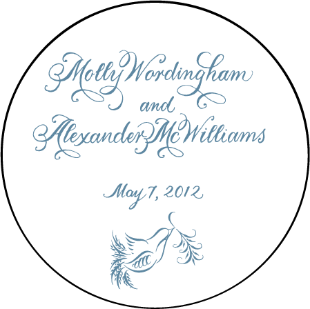Molly Letterpress Coaster Design Medium