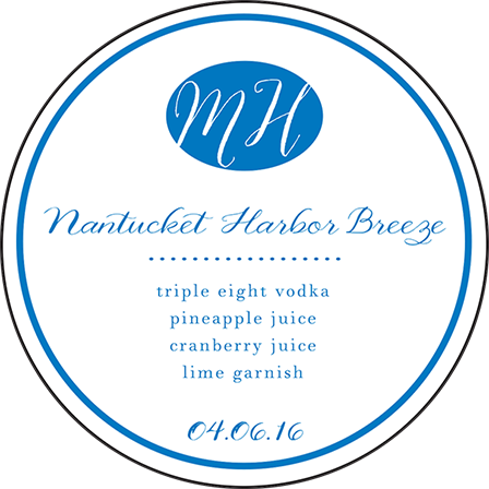 Montauk Letterpress Coaster Design Medium