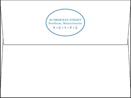 Montauk Letterpress Envelope Design Medium