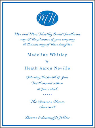 Montauk Letterpress Invitation Design Medium