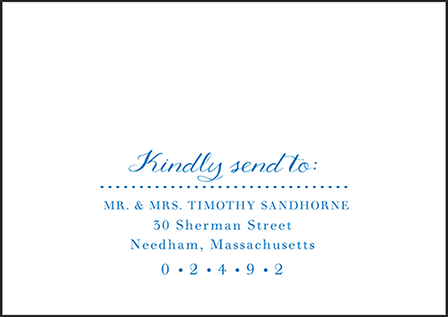 Montauk Letterpress Reply Envelope Design Medium