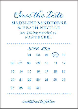 Montauk Letterpress Save The Date Design Medium