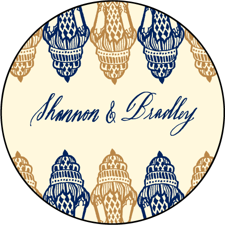 Moroccan Romantic Letterpress Coaster Design Medium