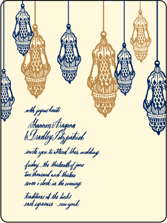 Moroccan Romantic Letterpress Invitation Design Medium