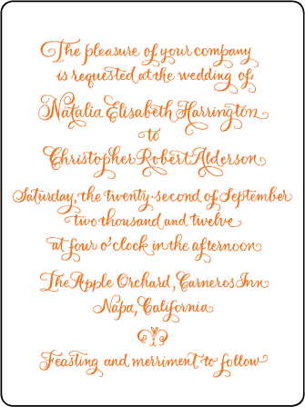 Natalia Letterpress Invitation Design Medium