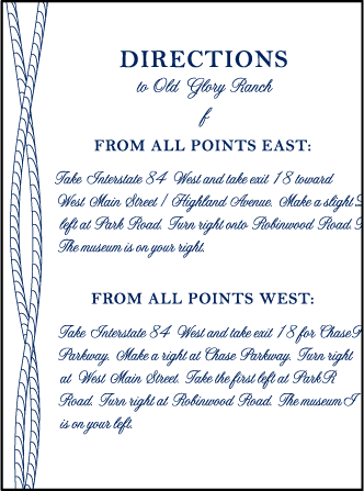 Nautical Classic Letterpress Direction Design Medium