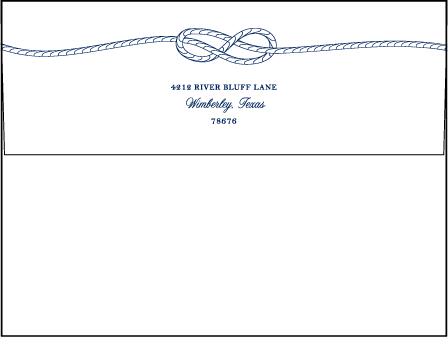 Nautical Classic Letterpress Envelope Design Medium