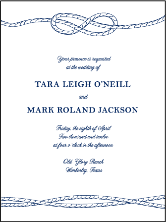 Nautical Classic Letterpress Invitation Design Medium