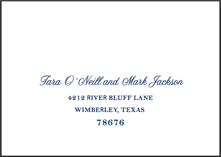 Nautical Classic Letterpress Reply Envelope Design Medium