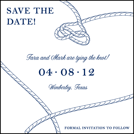 Nautical Classic Letterpress Save The Date Design Medium