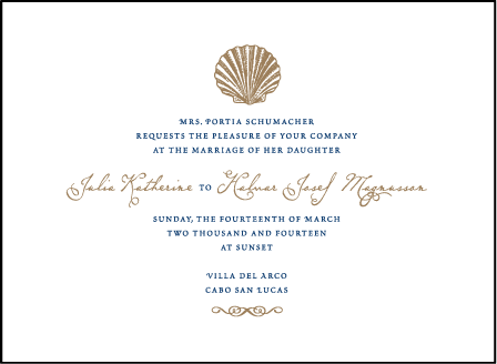 Nautilus Letterpress Invitation Design Medium
