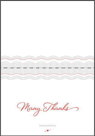 Neo Luna Letterpress Thank You Card Fold Design Medium