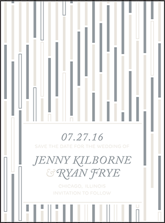 Neros Letterpress Save The Date Design Medium