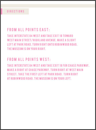 New Horizon Letterpress Direction Design Medium