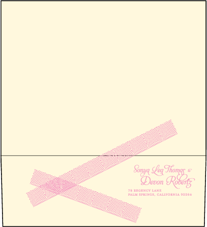 New Washi Letterpress Envelope Design Medium
