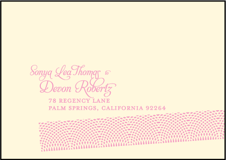 New Washi Letterpress Reply Envelope Design Medium