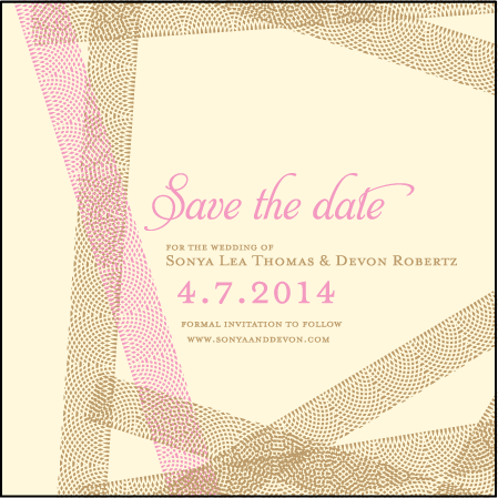 New Washi Letterpress Save The Date Design Medium