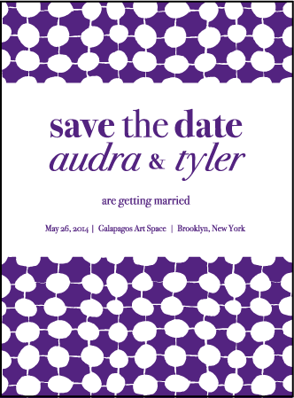 Nola Dots Letterpress Save The Date Design Medium