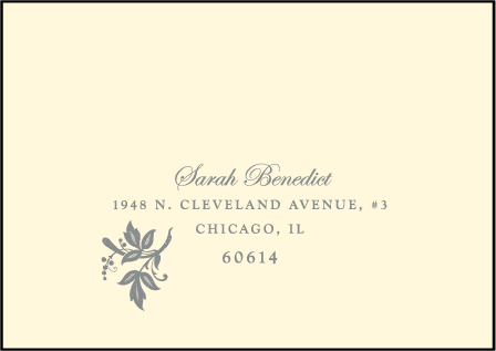 Nonpareil Letterpress Reply Envelope Design Medium