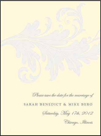 Nonpareil Letterpress Save The Date Design Medium