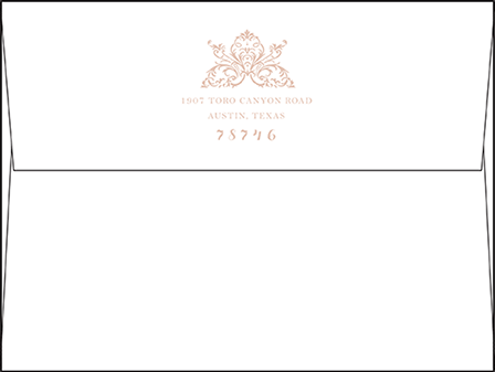 Nouveau Letterpress Envelope Design Medium