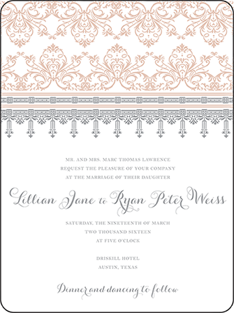 Nouveau Letterpress Invitation Design Medium