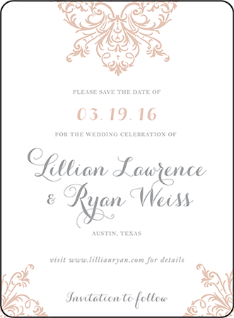 Nouveau Letterpress Save The Date Design Medium