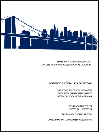 NYC Modern Letterpress Bar Mitzvah Design Medium