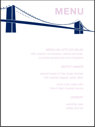 NYC Modern Letterpress Menu Design Medium