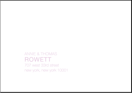 NYC Modern Letterpress Reply Envelope Design Medium