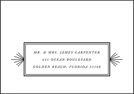 Odeon Letterpress Reply Envelope Design Medium
