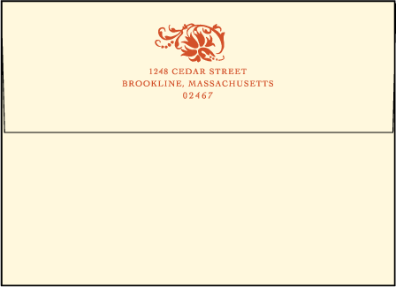 Odessa Letterpress Envelope Design Medium