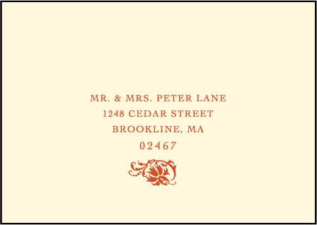 Odessa Letterpress Reply Envelope Design Medium