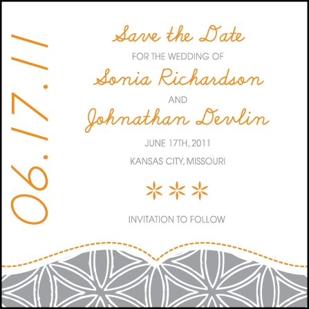 Ollie Letterpress Save The Date Design Medium