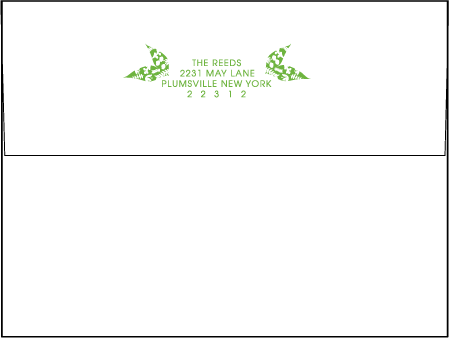 Organic Letterpress Envelope Design Medium